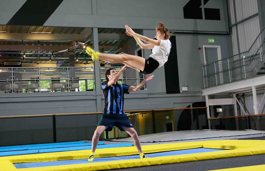 Intermediate trampolining courses