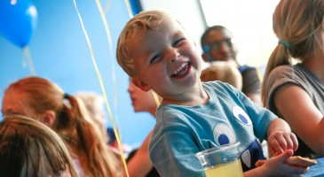 boy laughing at an oxygen freejumping party