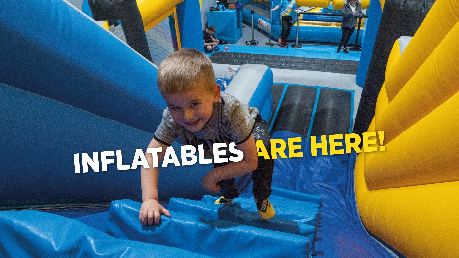 Inflatables land at Oxygen Freejumping