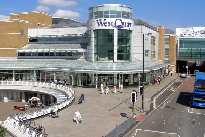 West Quay Shopping Centre in Southampton