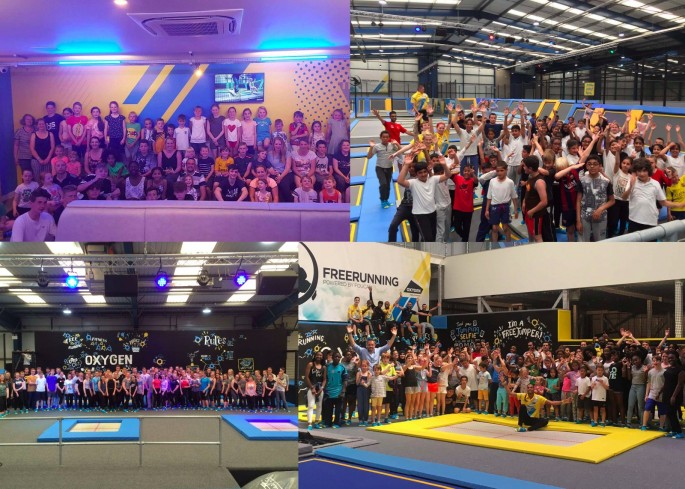 Oxygen Freejumping trampoline parks world record attempt