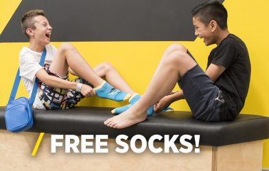 Get your free socks at Oxygen trampoline park