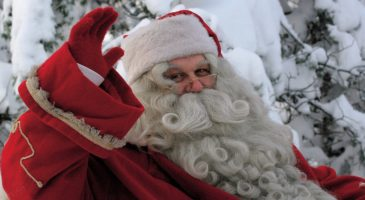 Christmas competition meet Santa Claus