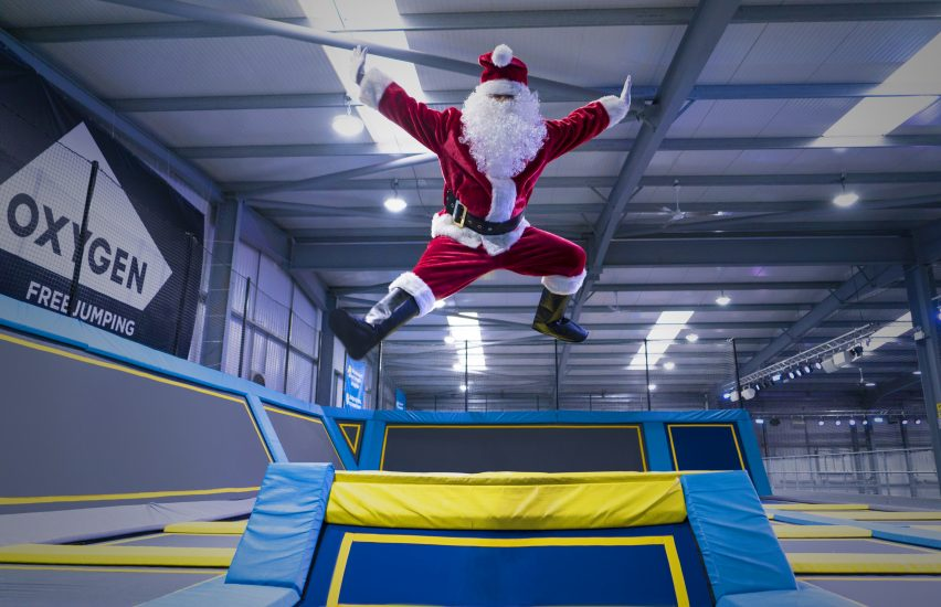Christmas jumping at trampoline park