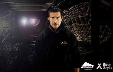 Obstacle fitness challenge with Bear Grylls