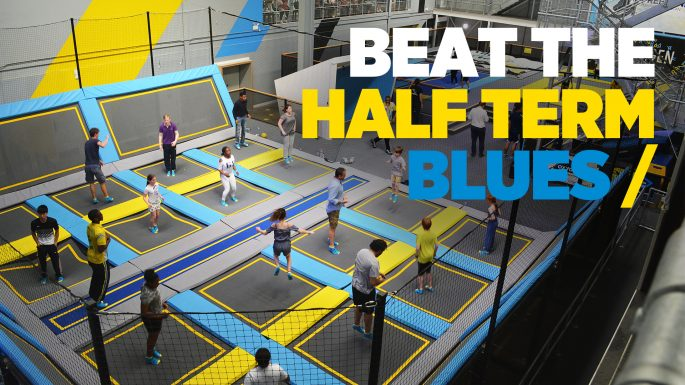Beat the half term blues with trampolining at the trampoline park